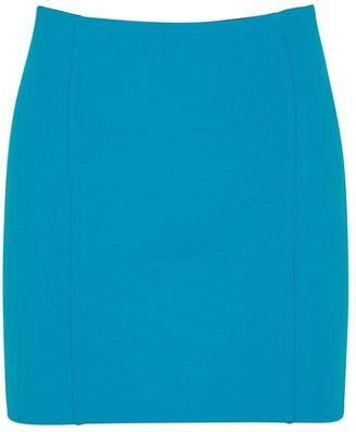 GAUGE81 Malibu Blue Stretch-jersey Mini Skirt