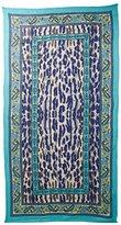 Theodora & Callum Women's Cheetah Paisley Scarf, Turquoise/Multi