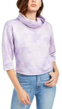 GUESS Cowl-Neck Tie-Dyed Sweatshirt