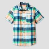 Cat & Jack Boys' Button Down Shirt - Cat & Jack Orange