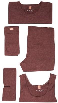 Lunya - Restore Pyjama Travel Set - Burgundy