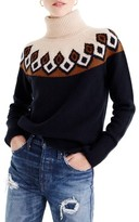 J.Crew Women's Ambrose Fair Isle Merino Wool Sweater