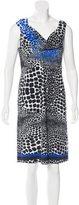 Roberto Cavalli Sleeveless Abstract Print Dress