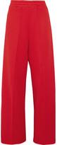 Golden Goose Deluxe Brand Sophie Satin-trimmed Cotton-blend Jersey Track Pants - Red