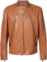 Maison Margiela zip front jacket - men - Leather/Viscose - 50