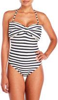 Kate Spade Stripe Bandeau One-Piece Swimsuit
