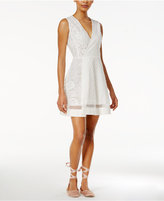 Rachel Roy Mixed-Media Fit & Flare Dress, Only at Macy's