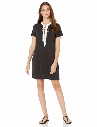 Gottex Women's Lace Up V-Neck Tunic Swimsuit Cover Up