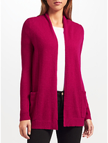 John Lewis Extra Fine Cashmere Cardigan, Berry