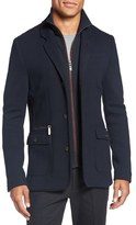 Ted Baker 'Dom' Extra Trim Fit Jersey Blazer with Removable Bib
