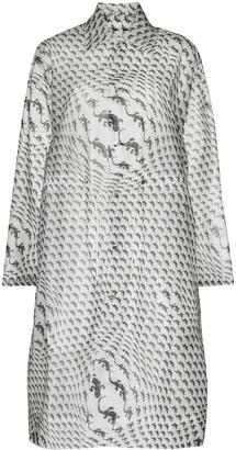 Marine Serre Lizard-Print Longline Raincoat