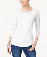 Women White Shirt Black Trim - ShopStyle