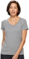 Croft & Barrow Women's Print Asymmetrical-Hem Tee