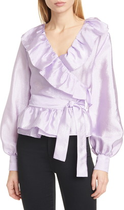 Stine Goya Carly Ruffle Wrap Blouse
