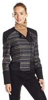 BCBGMAXAZRIA Women's Brock Metallic Stripe Jacket