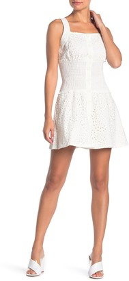 KENDALL + KYLIE Broderie Anglaise Eyelet Lace Mini Dress