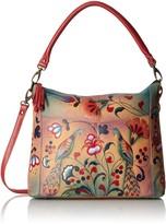 Anuschka Anna By Anna by Women's Genuine Leather Convertible Shoulder Handbag | Hand Painted Original Artwork | Zip-Top Crossbody |Turkish Pottery