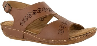 Easy Street Shoes Comfort Wave by Adjustable LeatherSandals, Sloane