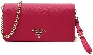 Prada Logo Chain Strap Clutch Bag