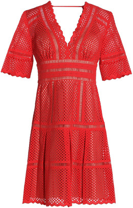 Catherine Deane Inna Laser-cut Cotton Mini Dress