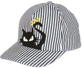 Fendi Stripes & Cat Print Canvas Baseball Hat