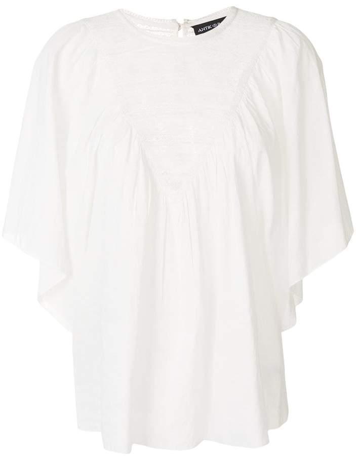 Antik Batik embroidered short-sleeve blouse