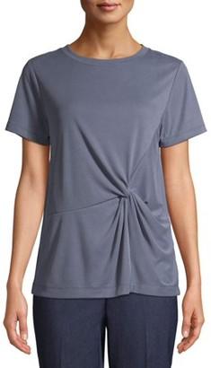 Time and Tru Women's Twist Front Sandwash T-Shirt