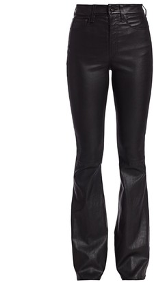 Rag & Bone Jane Super High-Rise Leather Flare Jeans