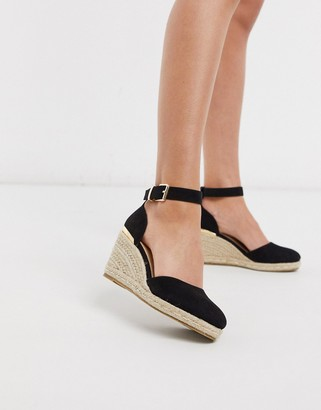 Truffle Collection heeled espadrille wedges