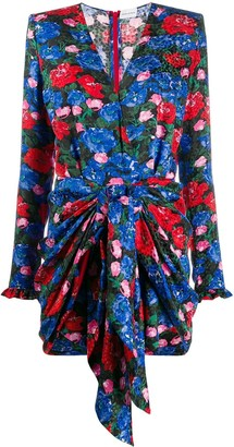 Magda Butrym Lesina floral-print silk dress