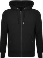 Michael Kors Full Zip Sherpa Hoodie Black