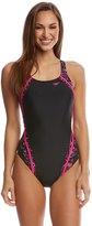 Speedo Women's PowerFLEX Eco Print Quantum Splice One Piece Swimsuit 8149356