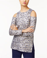MICHAEL Michael Kors Cold-Shoulder Top, a Macy's Exclusive