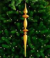 Southern Living Nostalgic Noel Collection Oversized Finial Ornament