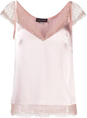 Talbot Runhof lace-detail blouse