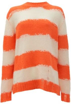 Acne Studios Kantonia Striped Sweater - Orange Multi