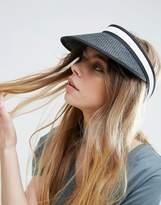 Asos Mono Straw Visor Hat