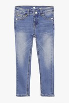 7 For All Mankind Girls 4-6x The Skinny 5-Pocket Stretch Denim Jeans In Vivid Authentic Blue