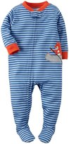 Carter's Striped Graphic Footie (Toddler) - Fox-5T