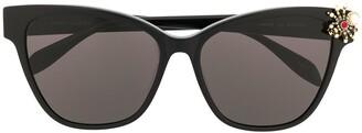 Alexander McQueen Eyewear Spider Cat Eye Frame Sunglasses