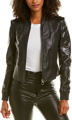 Gianni Versace Versace Laser Cut Leather Jacket