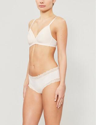 Hanro Cotton Lace underwired stretch-jersey spacer bra