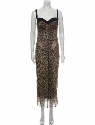 Dolce & Gabbana Animal Print Midi Length Dress w/ Tags