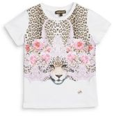 Roberto Cavalli Toddler's & Little Girl's Floral & Leopard Graphic Tee