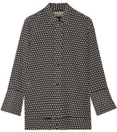 Marni Printed Silk-crepe Blouse - Black