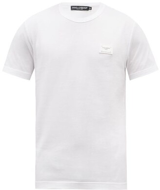 Dolce & Gabbana Logo-patch Cotton T-shirt - Mens - White
