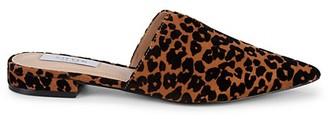 Steven by Steve Madden Lisse Leopard Cow-Hair Loafer Mules