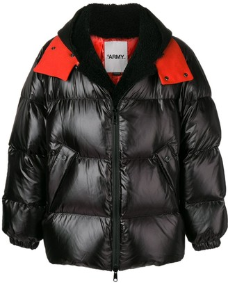 Yves Salomon Oversized Shearling Down Jacket