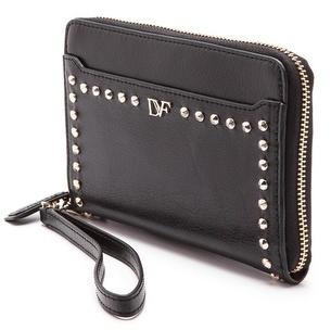 Diane von Furstenberg Studded iPhone 5 Leather Wristlet