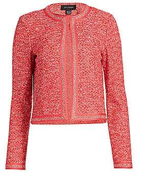 St. John Women's Marled Space Dyed Tweed Knit Jacket